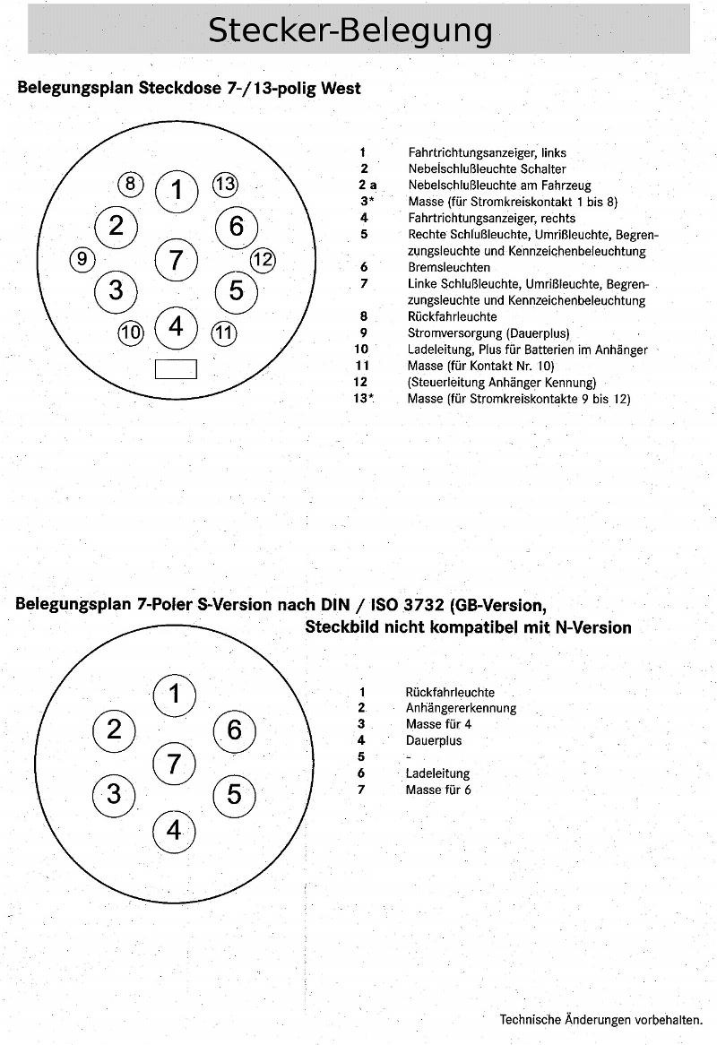Tolle Anhänger Lichter Stecker Verkabelung Bilder - Schaltplan Serie ...
